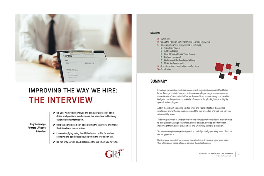 IMPROVING THE WAY WE HIRE: <br>THE INTERVIEW